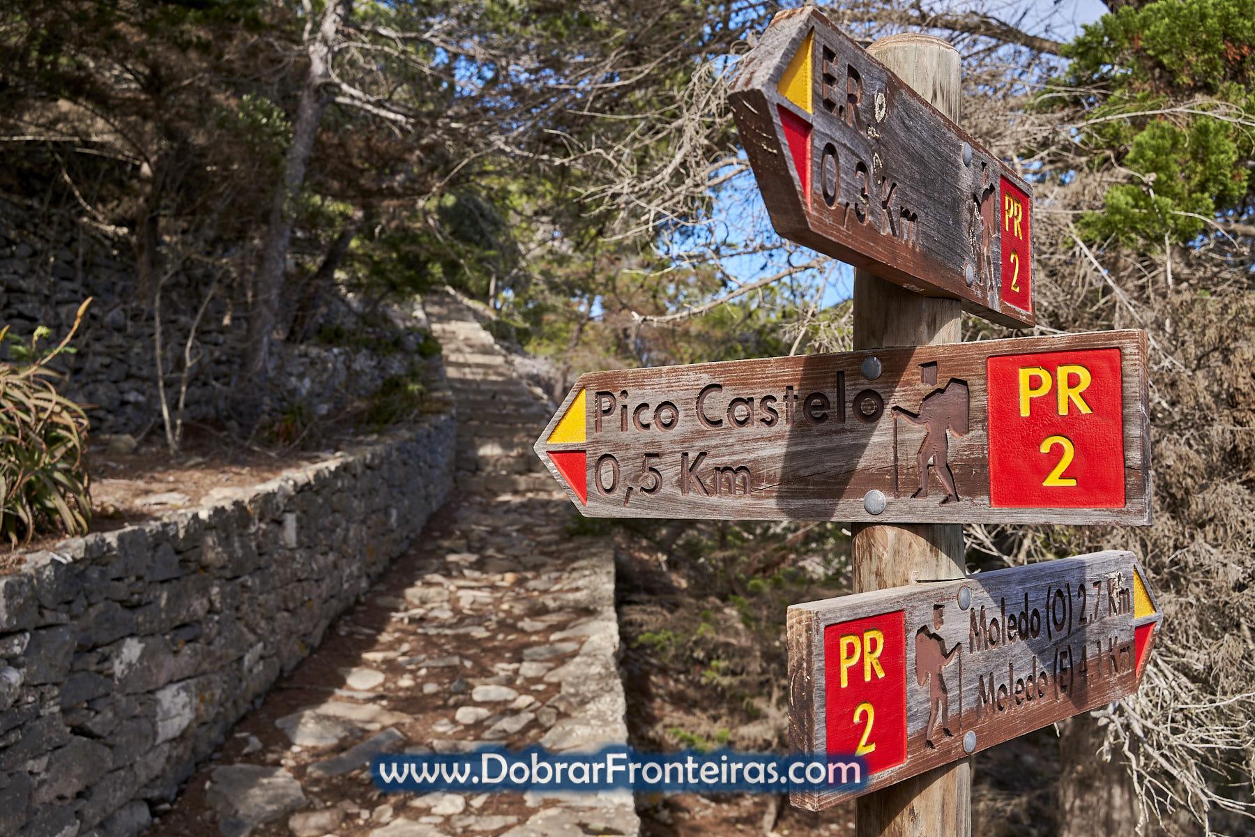 sinalização percurso pedestre ilha Porto Santo