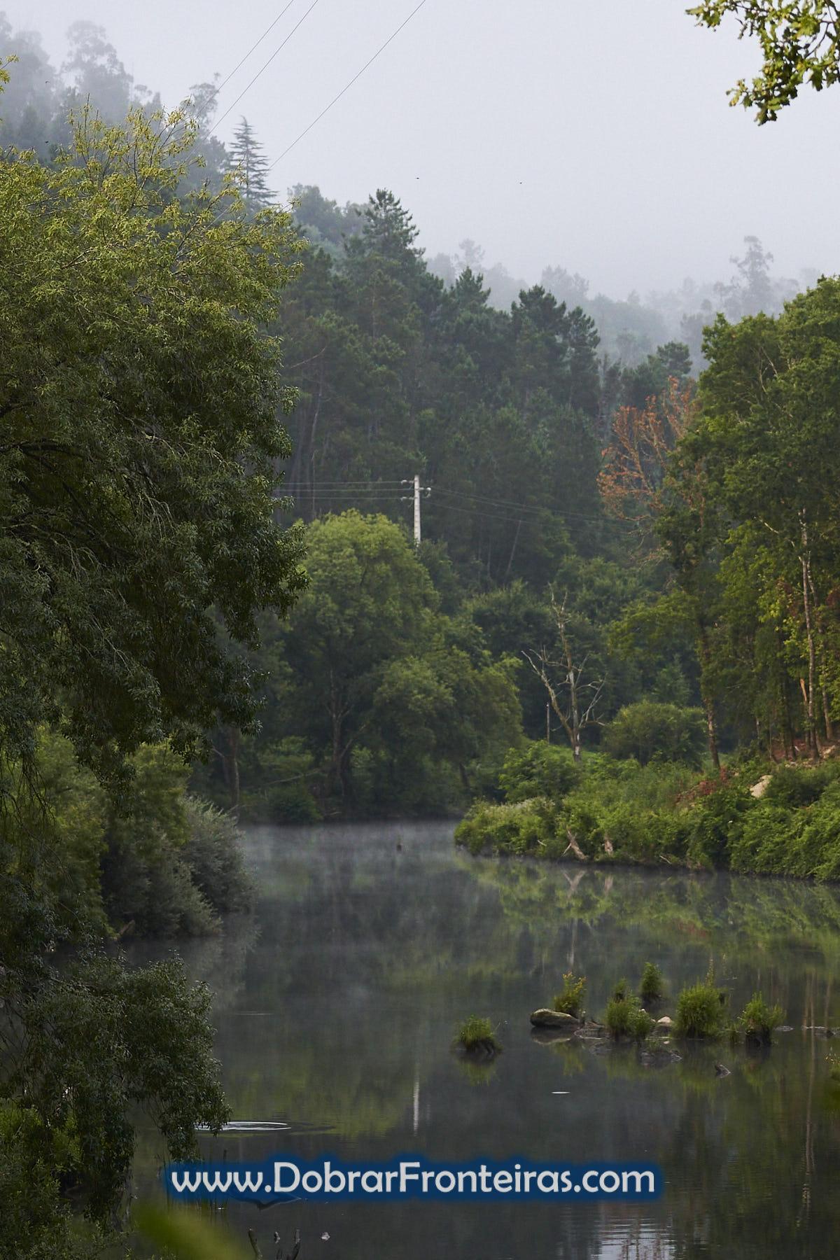 Rio Vouga em natureza verde